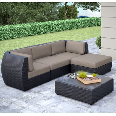Seattle 5 Piece Lounge Seating Group with Cushion
