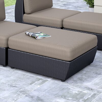 Seattle Patio Ottoman with Cushion