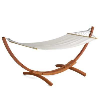 Wood Canyon Patio Cotton Hammock with Stand