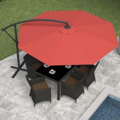 Freda 10 Cantilever Umbrella Fabric: Wine Red