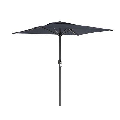 6.5' CorLiving Square Market Umbrella Fabric: Black