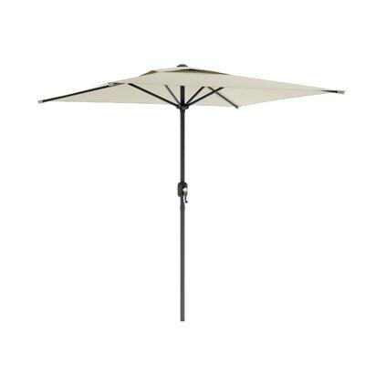 6.5' CorLiving Square Market Umbrella Fabric: Warm White