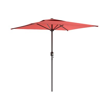 6.5' CorLiving Square Market Umbrella Fabric: Wine Red