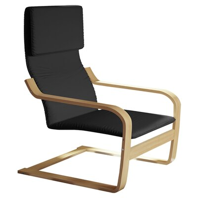 Aquios Bentwood Contemporary Armchair Color: Black