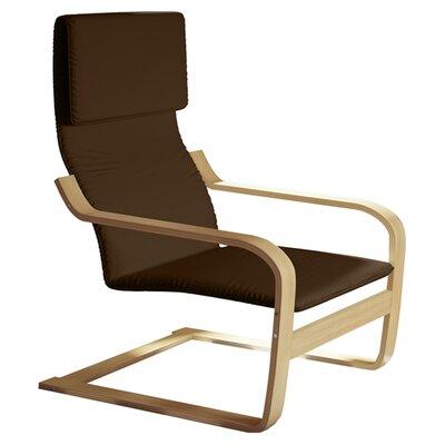 Aquios Bentwood Contemporary Armchair Color: Warm Brown