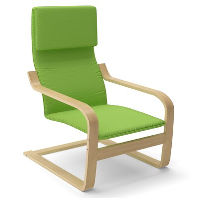 Aquios Bentwood Contemporary Armchair Color: Apple Green