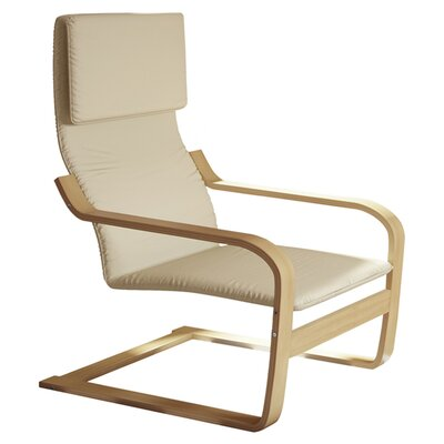 Aquios Bentwood Contemporary Armchair Color: Warm White