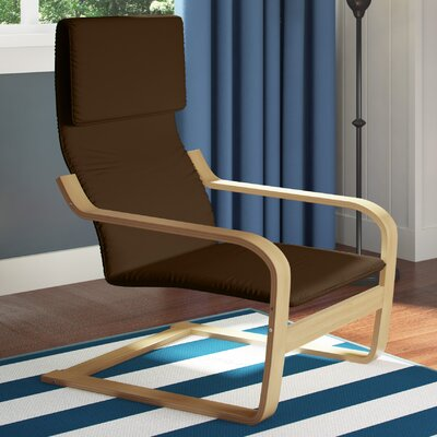 Aquios Bentwood Contemporary Armchair Color: Dark Coffee
