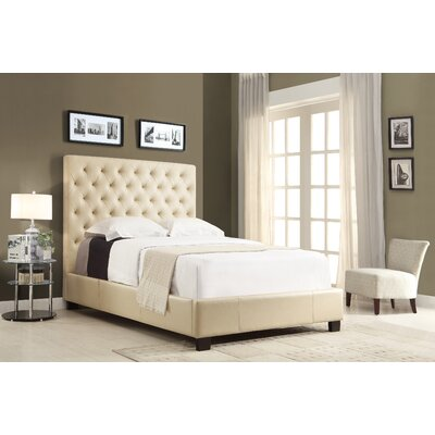 X-Series Upholstered Platform Bed Size: California King, Color: Stone