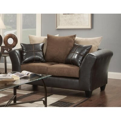 Simon Loveseat Upholstery: Flatsuede Chocolate