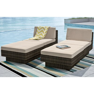 Park Terrace Chaise Lounge with Cushion