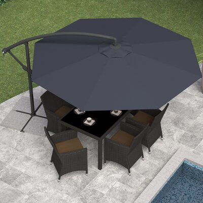 Freda 10 Cantilever Umbrella Fabric: Black