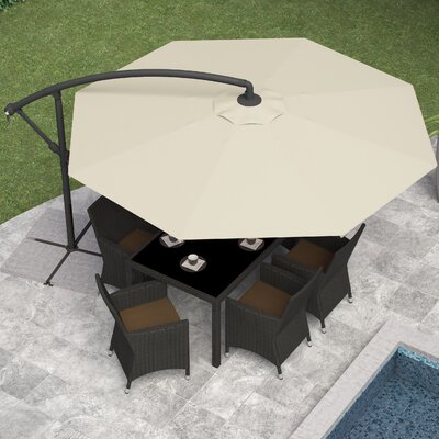 Freda 10 Cantilever Umbrella Fabric: Warm White