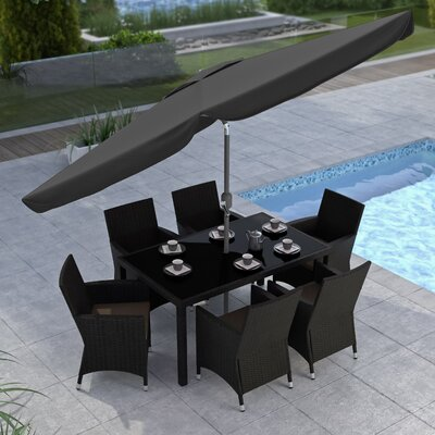 10 CorLiving Market Umbrella Fabric: Black