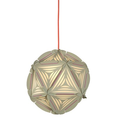 Como 1-Light Globe Pendant Shade Color: Greige