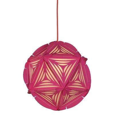 Como 1-Light Globe Pendant Shade Color: Pink