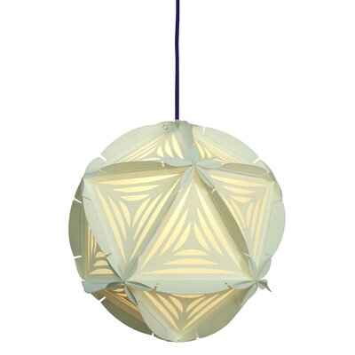 Como 1-Light Globe Pendant Shade Color: White