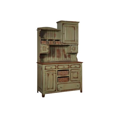 Charlottesville Hutch with Basket Standard China Cabinet Color: Black Cherry