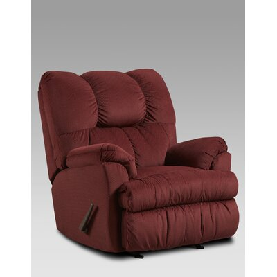 Burlington Manual Rocker Recliner Upholstery: Wine