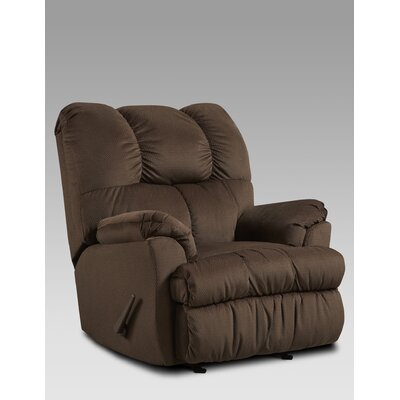 Burlington Manual Rocker Recliner Upholstery: Chocolate