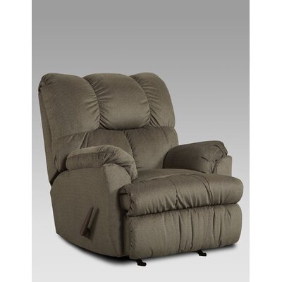 Burlington Manual Rocker Recliner Upholstery: Grey