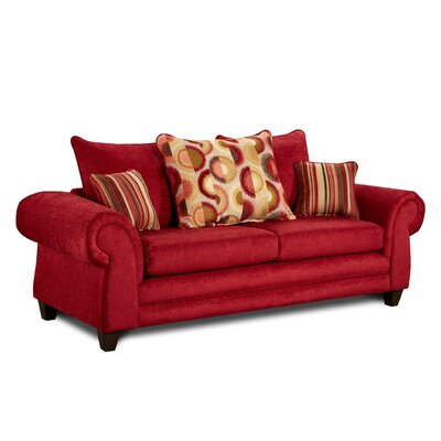 Carlen Sofa Upholstery: Red