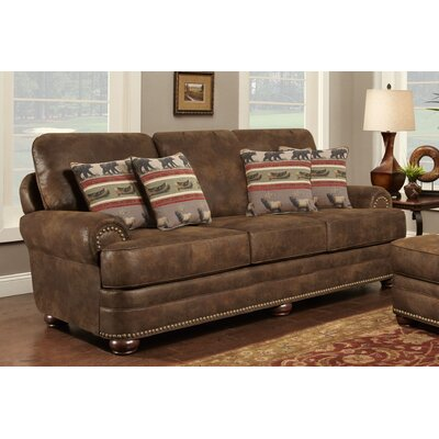 Drew Sofa Upholstery: Brown