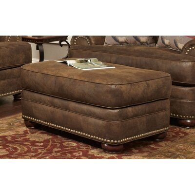 Drew Ottoman Upholstery: Brown