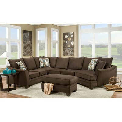 Campbell Sectional Upholstery: Flannel Espresso, Orientation: Left Hand Facing