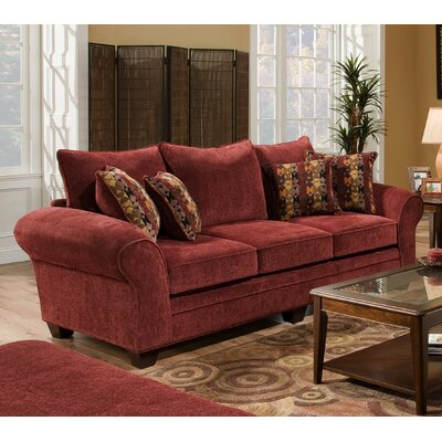 Clearlake Queen Sleeper Sofa Upholstery: Burgundy