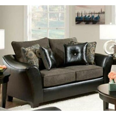 Union Loveseat Upholstery: Pinancle Gray