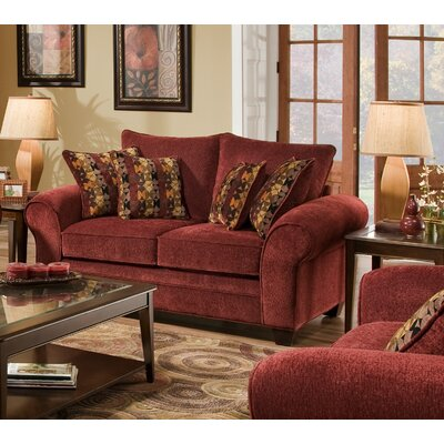Burlington Loveseat Upholstery: Masterpiece Burgundy