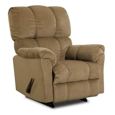 Michigan Manual Rocker Recliner Reclining Type: Manual, Upholstery: Chocolate