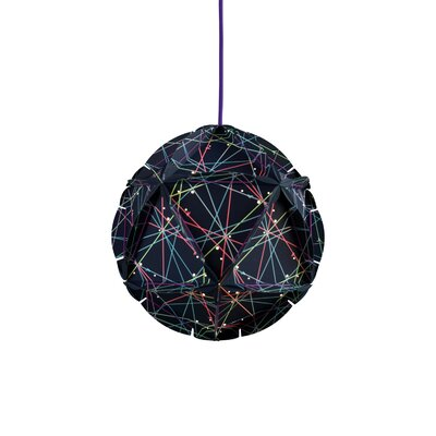Como 1-Light Globe Pendant Color: Blue