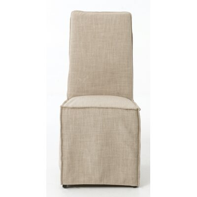 Downey Parsons Chair Upholstery: Palm Ecru