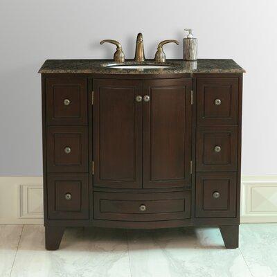 Lindenwood 40 Single Bathroom Vanity Set Top Finish: Granite
