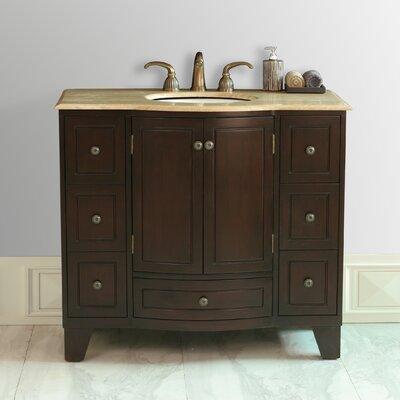 Lindenwood 40 Single Bathroom Vanity Set Top Finish: Marble