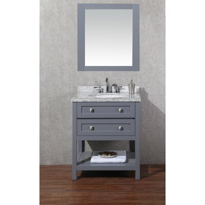 Whaley 30 Single Modern Bathroom Vanity Set with Mirror