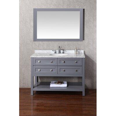 Whaley 48 Single Modern Bathroom Vanity Set with Mirror