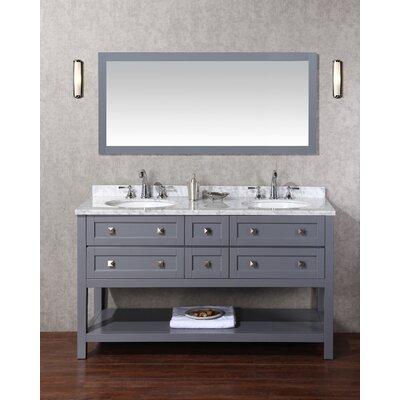 Whaley 60 Double Bathroom Vanity Set with Mirror