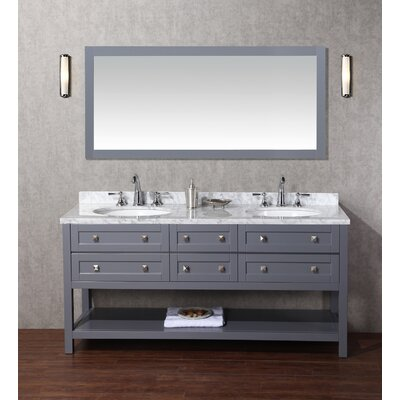 Whaley 72 Double Modern Bathroom Vanity Set with Mirror