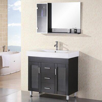 Pratt 36 Single Bathroom Vanity Set with Mirror