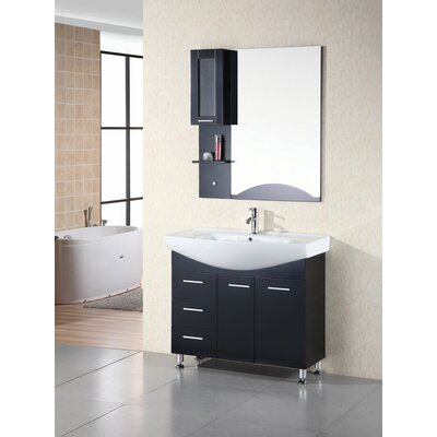 Dublin 40 Single Bathroom Vanity Set with Mirror