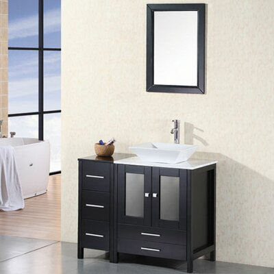 Jackson Heights 36 Single Bathroom Vanity Set with Mirror