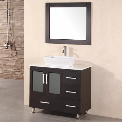 Pratt 36 Single Modern Bathroom Vanity Set with Mirror