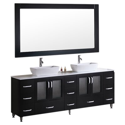 Pratt 72 Double Bathroom Vanity Set with Mirror