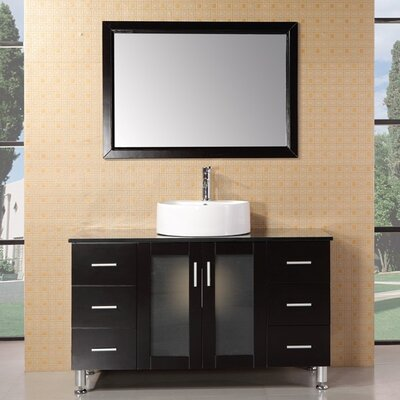 Palm Springs 47 Single Bathroom Vanity Set with Mirror