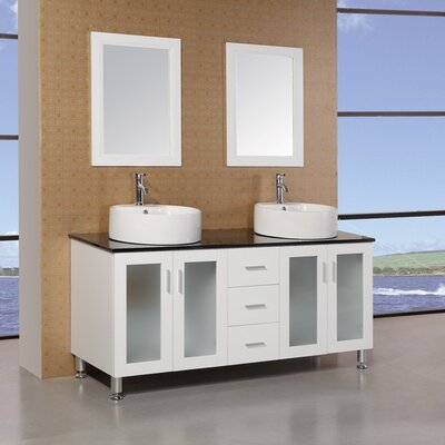 Palm Springs 60 Double Bathroom Vanity Set with Mirror