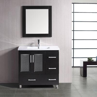 Pratt 36 Single Bathroom Vanity Set with Mirror