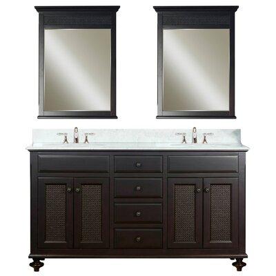 Carlson 60 Double Bathroom Vanity Set with Mirror